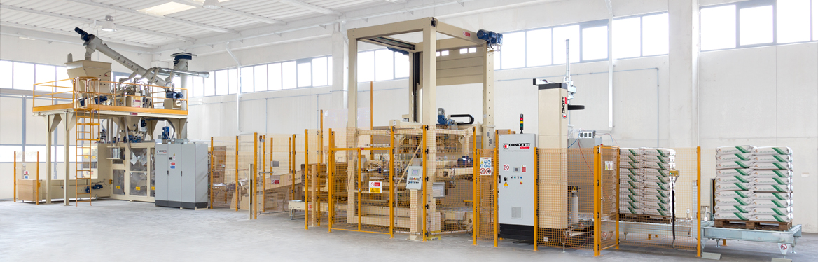 Complete packaging lines for flour