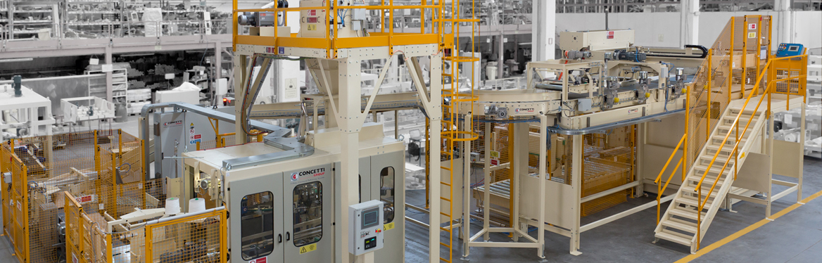 We design, assemble, programme and test run (F.A.T.) the complete line in a single plant
